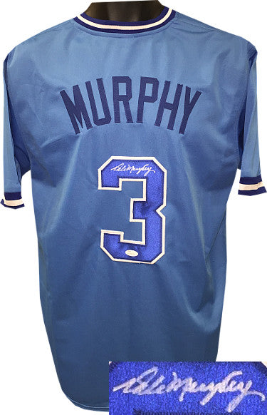 Dale Murphy signed Light Blue TB Custom Stitched Baseball Jersey XL- JSA Witnessed Hologram PSM-Powers Sports Memorabilia