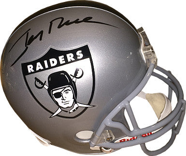Jerry Rice signed Oakland Raiders Riddell Full Size Replica Helmet- Rice Hologram PSM-Powers Sports Memorabilia
