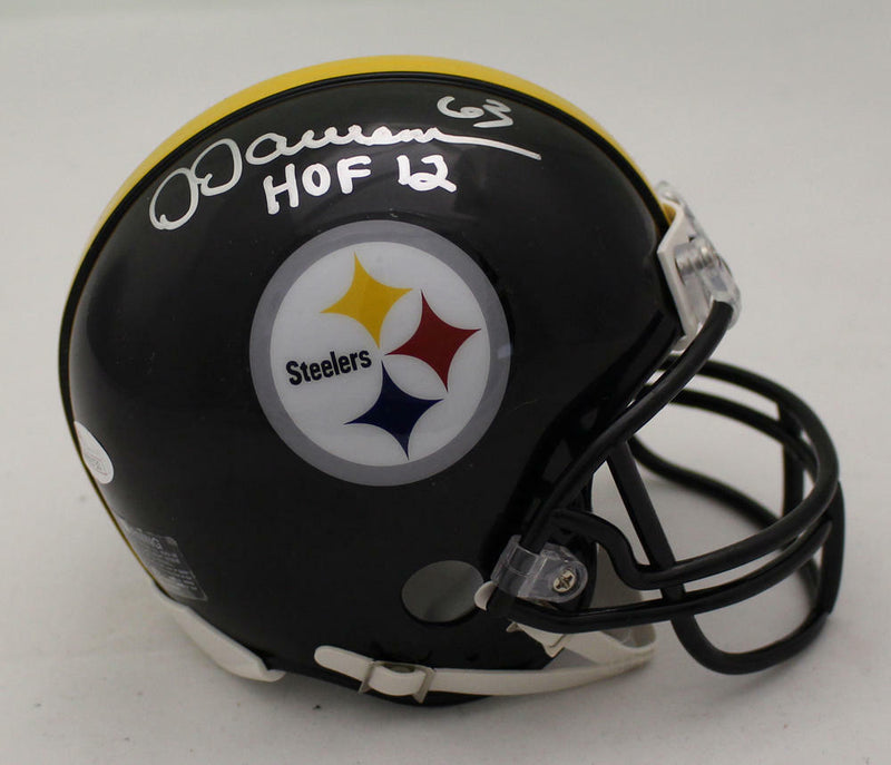 Dermontti Dawson Autographed Pittsburgh Steelers Mini Helmet HOF JSA PSM-Powers Sports Memorabilia
