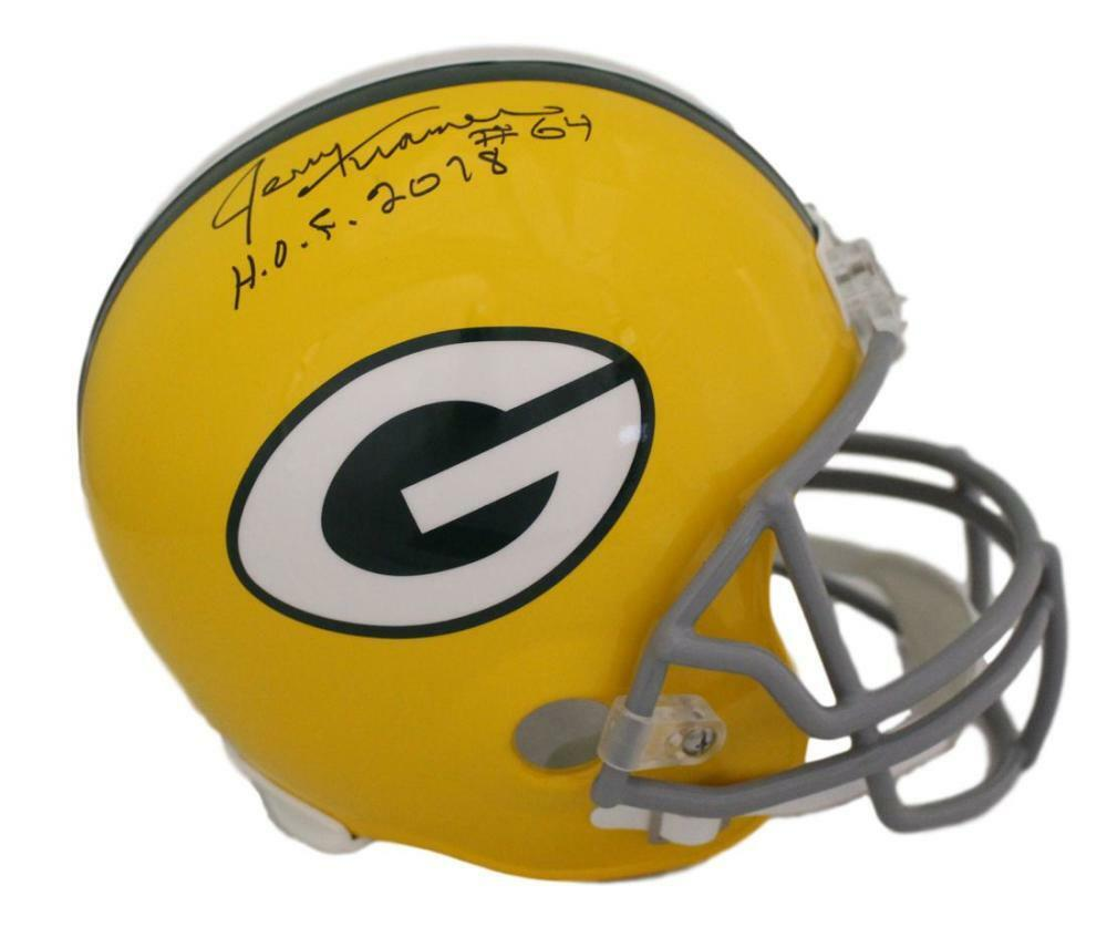 Jerry Kramer Autographed Green Bay Packers Replica Helmet HOF JSA PSM-Powers Sports Memorabilia