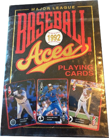 1992 Major League Baseball Aces Playing Cards- 54 Full Color Photos of 1991 Leaders PSM-Powers Sports Memorabilia