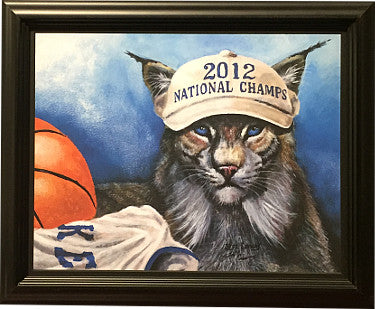 Kentucky Wildcats 2012 Basketball National Champs Wildcat 11x14 Photo Custom Framing PSM-Powers Sports Memorabilia