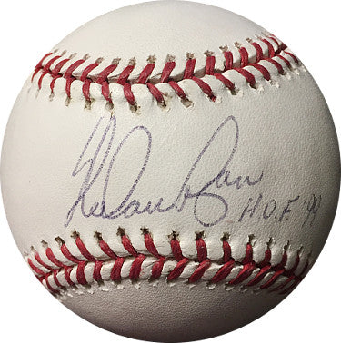 Nolan Ryan signed Official Rawlings Major League Baseball w/ HOF 99 Insc - Steiner Hologram (Texas Rangers/New York Mets) PSM-Powers Sports Memorabilia
