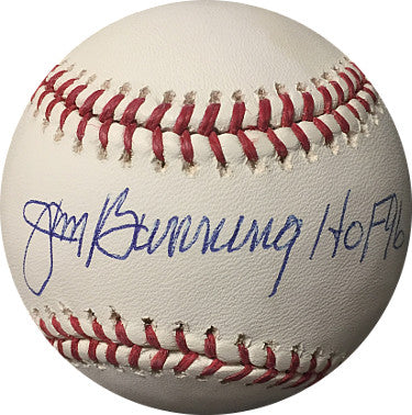 Jim Bunning signed Official Major League Baseball HOF 96- JSA Hologram #F27375 (Tigers/Phillies) PSM-Powers Sports Memorabilia