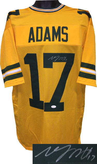 new style a4749 8d4e4 Davante Adams signed Gold Custom Stitched Pro Style Football Jersey #17 XL-  JSA Witnessed Hologram PSM