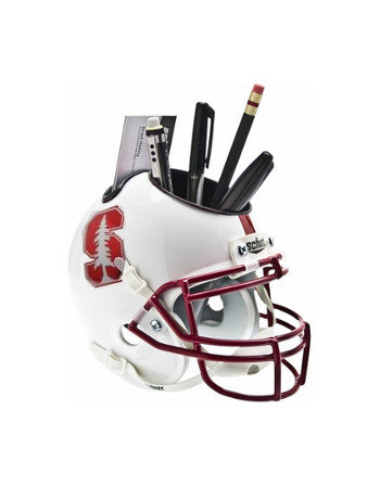 Stanford Cardinal (White with Tree) NCAA Football Schutt Mini Helmet Desk Caddy PSM-Powers Sports Memorabilia