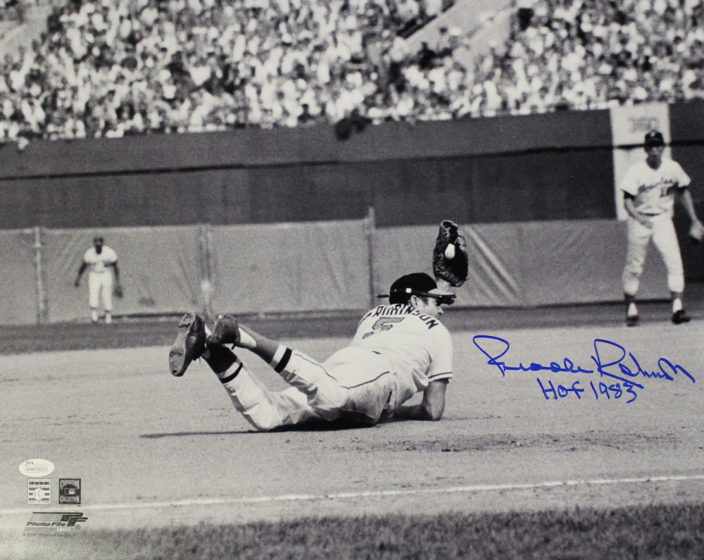 Brooks Robinson Autographed Baltimore Orioles 16x20 Photo HOF JSA PSM-Powers Sports Memorabilia