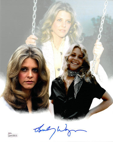 Lindsay Wagner signed 8x10 Photo Collage- JSA Witnessed Hologram (Jaime Sommers/The Bionic Woman/Six Millon Dollar Man) PSM-Powers Sports Memorabilia