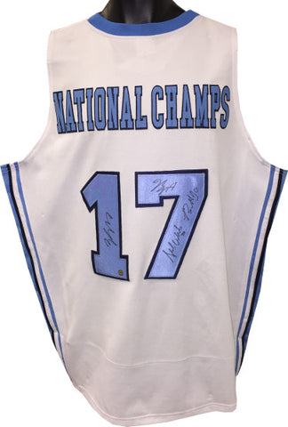2016-17 North Carolina Tar Heels National Champs signed College Custom Jersey 4 sigs- Isiah Hicks/Nate Britt/Stilman White- JSA PSM-Powers Sports Memorabilia