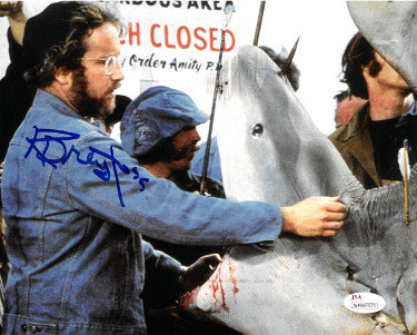 Richard Dreyfuss signed Jaws 8x10 Photo (Shark w/ Open Mouth) (Left Side Sig)- JSA Witnessed Hologram PSM-Powers Sports Memorabilia