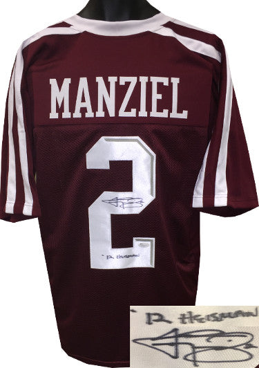 Johnny Manziel signed Maroon Custom Stitched College Football Jersey #2 '12 Heisman XL- JSA Hologram PSM-Powers Sports Memorabilia