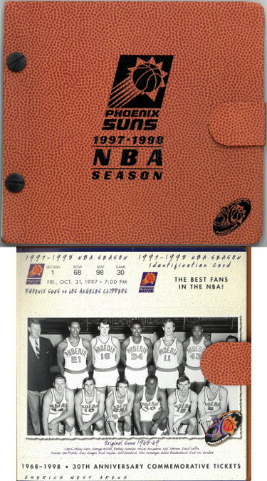 1997/98 Phoenix Suns NBA Basketball 30th Anniversary Season Ticket Album (full set– Unused) PSM-Powers Sports Memorabilia