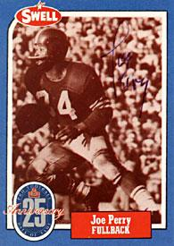 Joe Perry Autographed 1988 Swell Hall of Fame Football Card PSM-Powers Sports Memorabilia