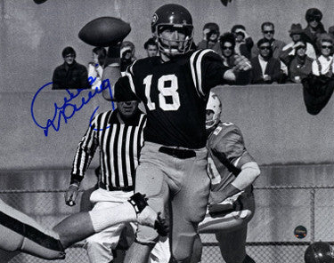 Archie Manning signed Ole Miss Rebels Vintage B&W 8x10 Photo- Steiner Hologram PSM-Powers Sports Memorabilia