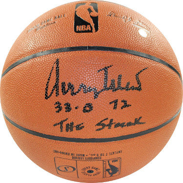 Jerry West signed Spalding NBA Indoor/Outdoor Basketball 32-0, 72, The Streak- Steiner Hologram (Los Angeles Lakers) PSM-Powers Sports Memorabilia