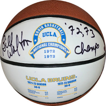Bill Walton signed UCLA Bruins Logo Basketball 72, 73 Champs- Steiner Hologram PSM-Powers Sports Memorabilia