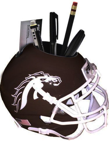 Western Michigan Broncos (Brown) NCAA Football Schutt Mini Helmet Desk Caddy PSM-Powers Sports Memorabilia