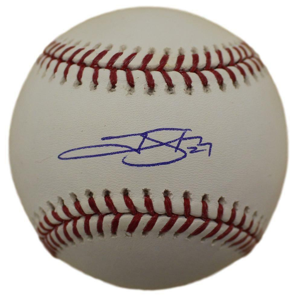 Trevor Story Autographed Colorado Rockies OML Baseball JSA  PSM-Powers Sports Memorabilia