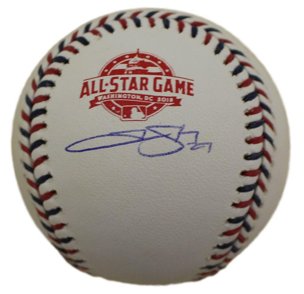 Trevor Story Autographed Colorado Rockies 2018 All Star Baseball JSA  PSM-Powers Sports Memorabilia