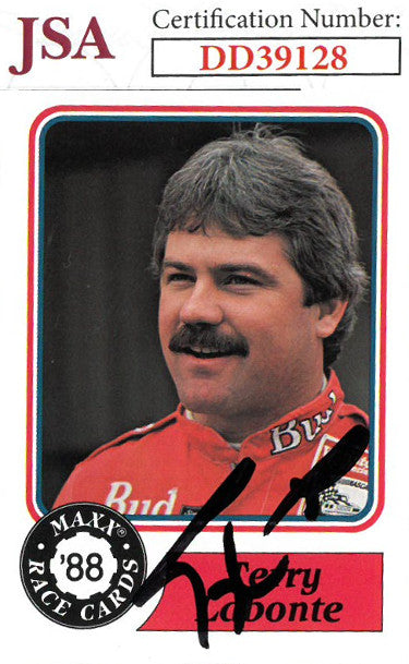 Terry Labonte signed NASCAR 1988 Maxx Charlotte Racing Trading Card #63- JSA Hologram #DD39128 PSM-Powers Sports Memorabilia