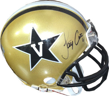 Jay Cutler signed Vanderbilt Commodores Riddell Mini Helmet #6- JSA Hologram #DD39369 PSM-Powers Sports Memorabilia