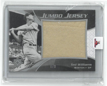 Ted Williams Boston Red Sox 2009 Upper Deck Ultimate Collection Game Used Jumbo Jersey Baseball Card- LTD 6/9- JJ-TW PSM-Powers Sports Memorabilia