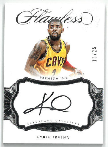 Kyrie Irving signed Cleveland Cavaliers 2016-17 Panini Flawless Basketball Card- LTD 13/25- PI-KIR PSM-Powers Sports Memorabilia