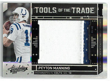 Peyton Manning Indianapolis Colts 2010 Absolute Memorabilia Tools of the Trade Game Used Jersey Football Card #10- LTD 2/10 PSM-Powers Sports Memorabilia