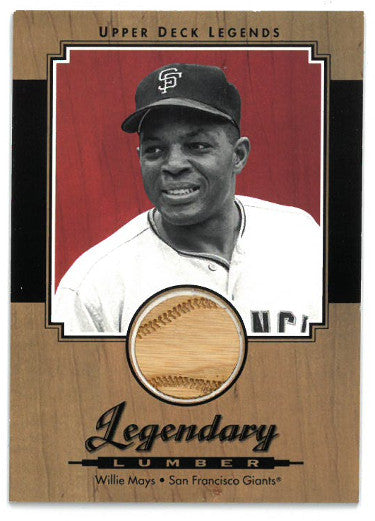 Willie Mays San Francisco Giants 2001 Upper Deck Legends Legendary Lumber Game Used Bat Trading Card #L-WM PSM-Powers Sports Memorabilia