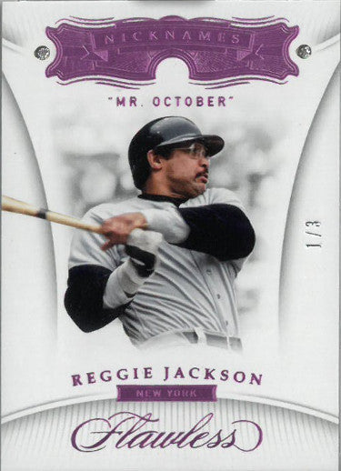 Reggie Jackson New York Yankees Mr. October 2018 Panini Flawless Nicknames Dual Diamond Baseball Card #79- LTD 1/3 PSM-Powers Sports Memorabilia
