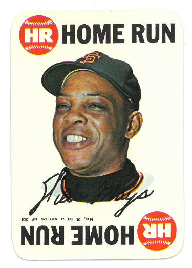 Willie Mays San Francisco Giants 1968 Topps Game Baseball Card #8 PSM-Powers Sports Memorabilia