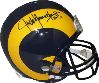 Jack Youngblood signed Los Angeles Rams TB FS Rep Helmet HOF 01- JSA Hologram #DD90868 PSM-Powers Sports Memorabilia