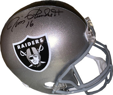 Jim Plunkett signed Oakland Raiders Riddell FS Rep Helmet #16- JSA Witnessed Hologram #WP957600 PSM-Powers Sports Memorabilia