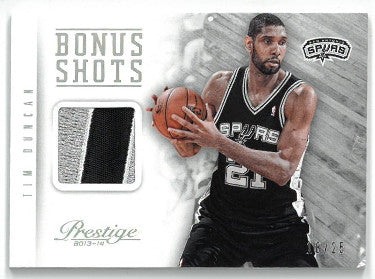 David Robinson San Antonio Spurs 2013-14 Panini Prestige Bonus Shots Game Used Jersey Basketball Card #25- LTD 18/25 PSM-Powers Sports Memorabilia