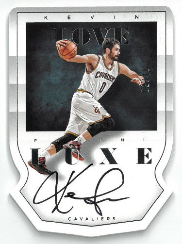 Kevin Love signed Cleveland Cavaliers 2014-15 Panini Luxe Basketball Card #DC-KLO- LTD 02/40 PSM-Powers Sports Memorabilia