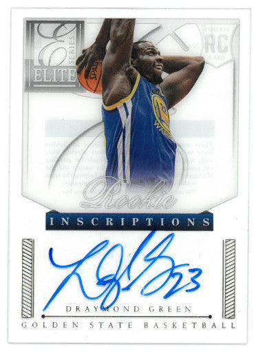 Draymond Green signed Golden State Warriors 2012-13 Panini Elite Rookie Inscriptions Basketball Card (RC) #17 PSM-Powers Sports Memorabilia