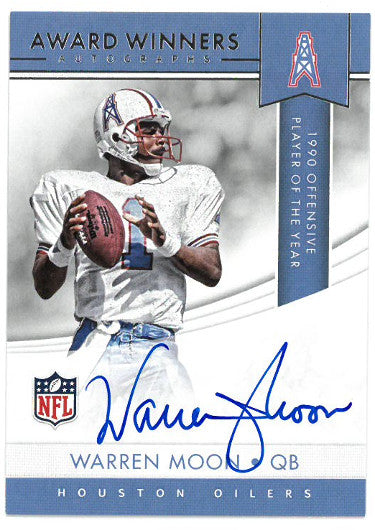 Warren Moon signed Houston Oilers 2017 Panini Award Winners Football Card #AWA-WM PSM-Powers Sports Memorabilia