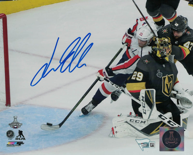 Lars Eller Autographed Washington Capitals 8x10 Photo FANá PSM-Powers Sports Memorabilia
