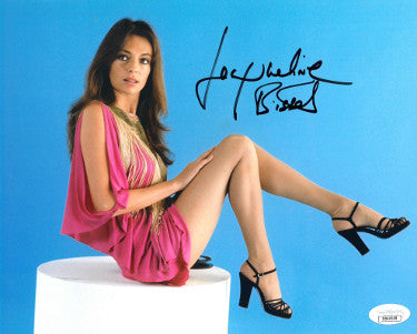Jacqueline Bisset signed Color 8x10 Photo- JSA Hologram #DD64508 (pink dress) PSM-Powers Sports Memorabilia