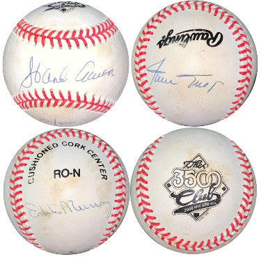 Hank Aaron/Willie Mays/Eddie Murray signed 3500 Club 3 sig RONL Official Baseball LTD 150/350 - JSA LOA #BB18777 PSM-Powers Sports Memorabilia