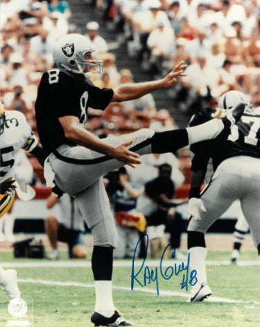 Ray Guy signed Oakland Raiders 8x10 Photo #8 PSM-Powers Sports Memorabilia