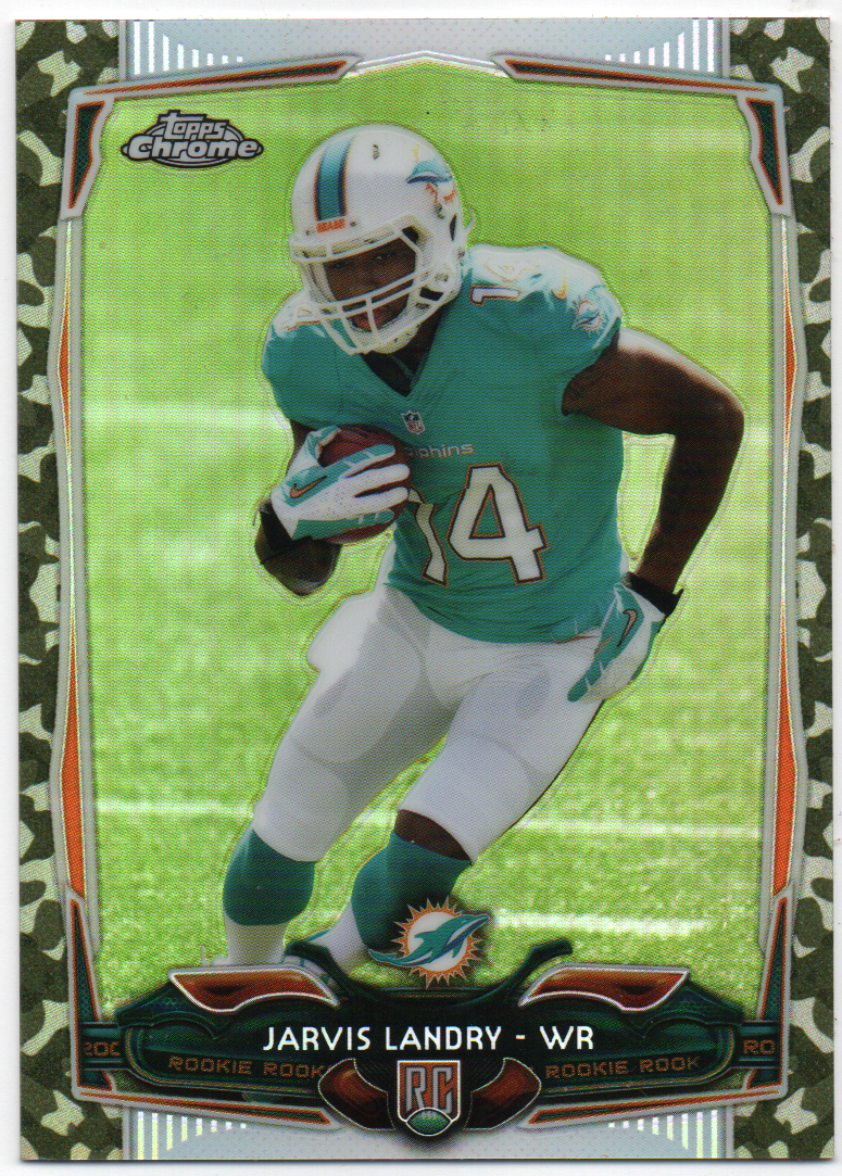 Jarvis Landry 2014 Topps Chrome Refractor Rookie Card PSM-Powers Sports Memorabilia