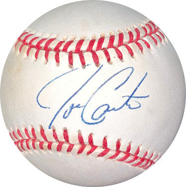 Joe Carter signed ROAL Rawlings Official American League Baseball- JSA Hologram #DD64418 (Toronto Blue Jays) PSM-Powers Sports Memorabilia