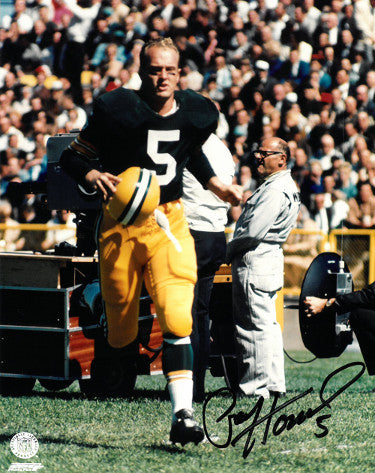 Paul Hornung signed Green Bay Packers 8x10 Photo #5 (helmet off running) PSM-Powers Sports Memorabilia