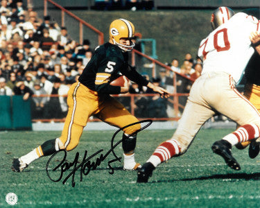 Paul Hornung signed Green Bay Packers 8x10 Photo minor corner ding (horizontal run) PSM-Powers Sports Memorabilia