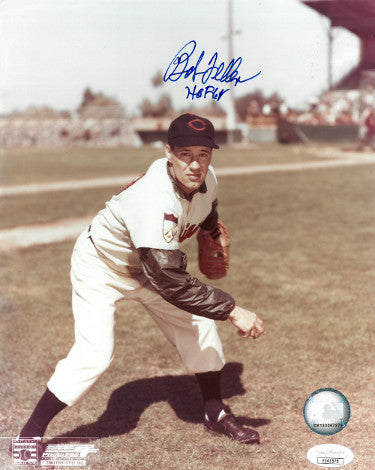 Bob Feller signed Cleveland Indians Color 8x10 Photo HOF 62- JSA Hologram PSM-Powers Sports Memorabilia