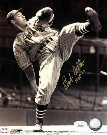Bob Feller signed Cleveland Indians Vintage Sepia 8x10 Photo HOF 62- JSA Hologram (gold sig) PSM-Powers Sports Memorabilia