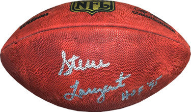 Steve Largent signed Official NFL Duke Gameday Football HOF 95 inscription (silver sig) (Seattle Seahawks)- JSA Holo #EE41551 PSM-Powers Sports Memorabilia