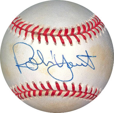 Robin Yount signed ROAL Rawlings Official American League Baseball minor tone- JSA Hologram #DD64432 (Milwaukee Brewers) PSM-Powers Sports Memorabilia