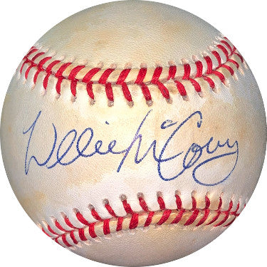 Willie McCovey signed RONL Rawlings Official National League Baseball toned- JSA Hologram #EE41621 (Giants/Padres) PSM-Powers Sports Memorabilia